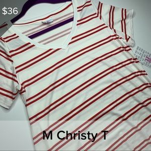 M Christy - red and white stripe